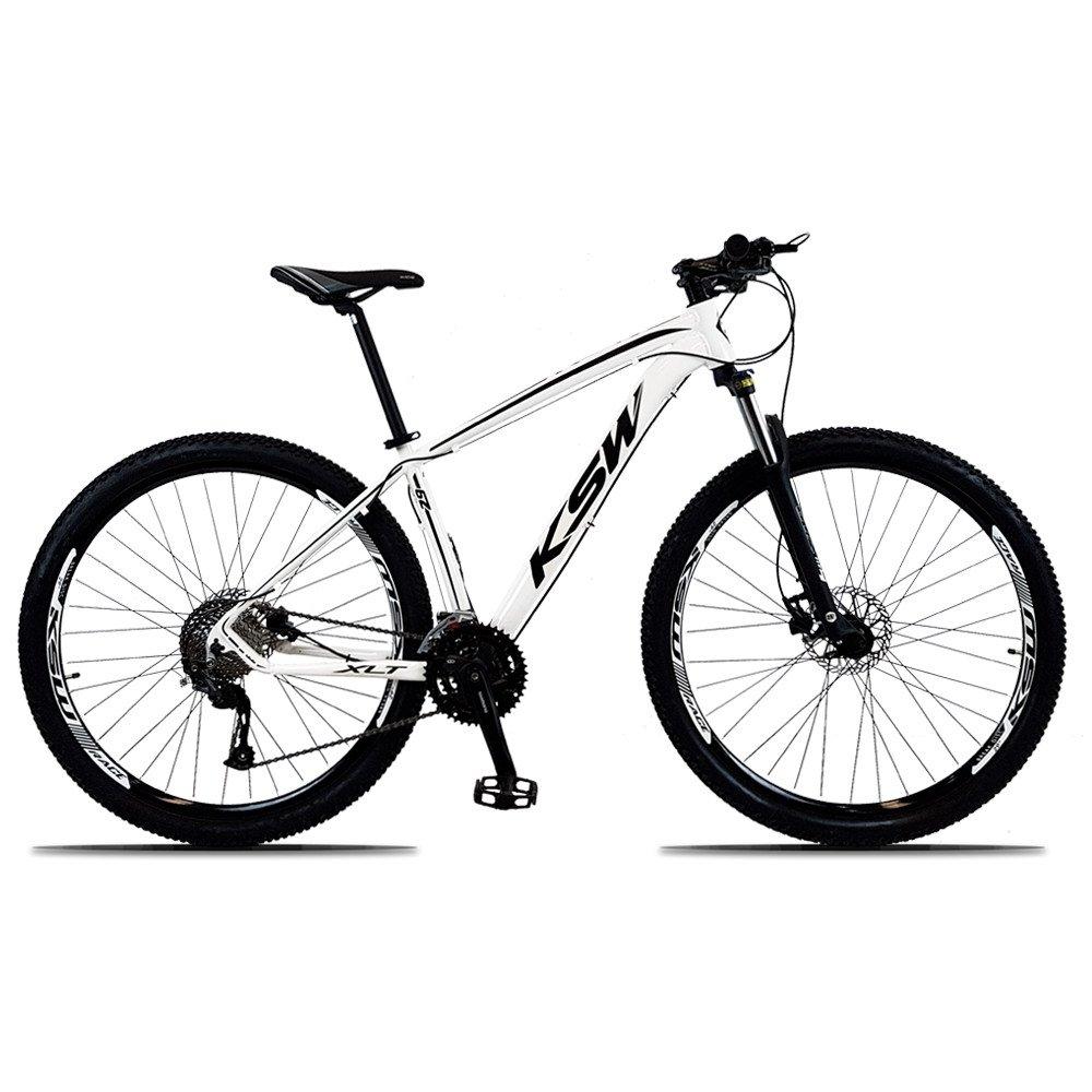 Bicicleta Ksw Xlt M2000 Disc H T19 Aro 29 Susp. Dianteira 27 Marchas - Branco