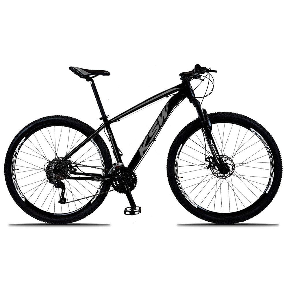 Bicicleta Ksw Xlt M2000 Disc M T21 Aro 29 Susp. Dianteira 27 Marchas - Preto