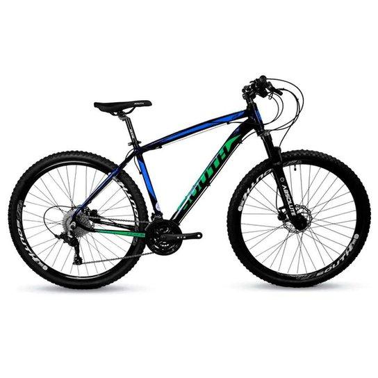Bicicleta Aro 29 Mtb Alumínio South 27v Azul e Verde - Azul+Verde