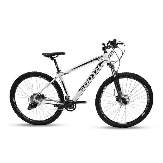 Bicicleta Aro 29 Mtb Alumínio South Legend 20v Branco e Pto - Branco+Preto