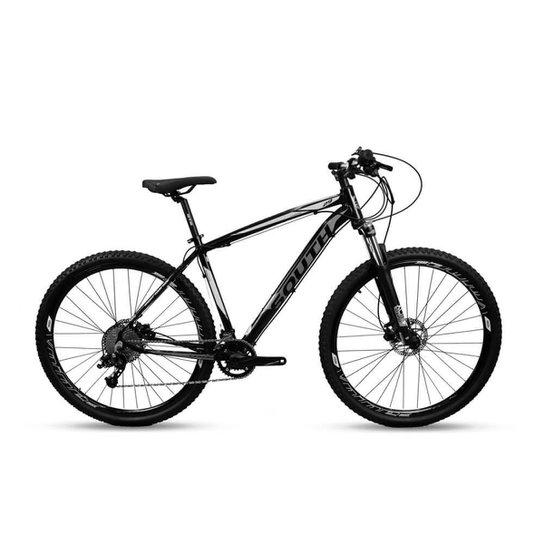 Bicicleta Aro 29 Mtb Alumínio South Legend 20v Pto e Branco - Preto+Branco