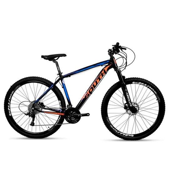 Bicicleta Aro 29 Mtb Alumínio South Legend 24v Azul e Laranj - Azul+Laranja