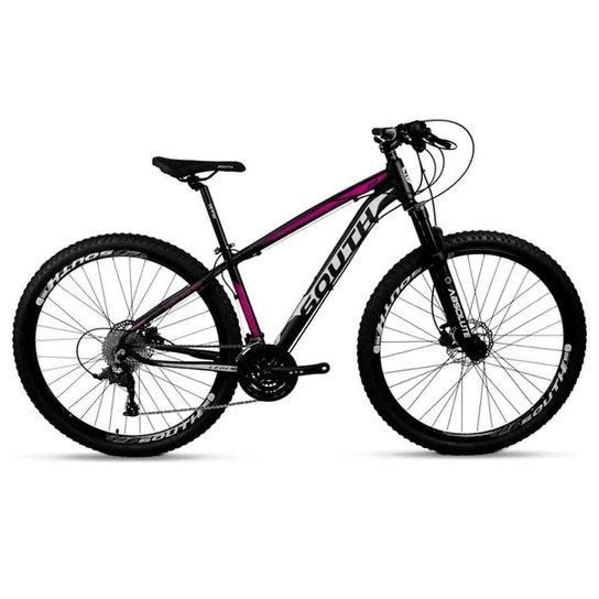 Bicicleta Aro 29 Mtb Alumínio South Legend 24v Preto e Rosa - Preto+Rosa