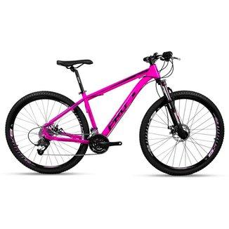 Bicicleta Aro 29 Prowest Freio Mec Trava Suspensão 27v Rosa