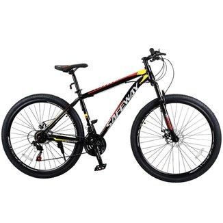 Bicicleta Aro 29 Safeway Aço Carbono 21 marchas Shimano Freio a Disco e Suspensão