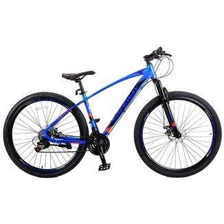 Bicicleta Aro 29 Safeway Aluminio 21 marchas Shimano Freio a Disco e Suspensão