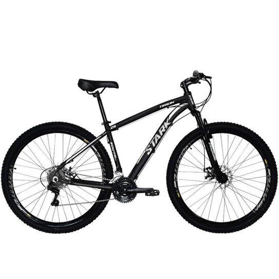 Bicicleta Aro 29 Southbike Alumínio 21 Marchas Câmbio Shimano Freio a Disco Stark 2018 - Prata+Branco