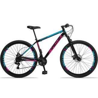 Bicicleta Aro 29 Spaceline Moon 21v Com Suspensão Freio A Disco - Tamanho 19