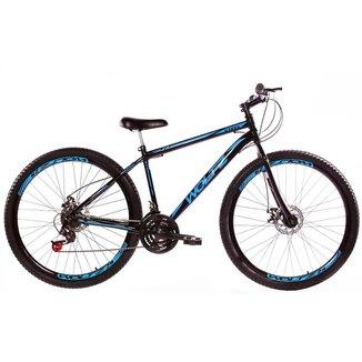 Bicicleta Aro 29 Woltz Aço 21 Marchas Freio A Disco