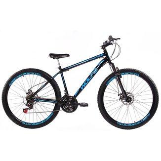 Bicicleta Aro 29 Woltz Aço Freios A Disco Suspensão