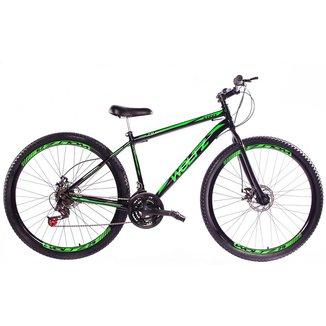 Bicicleta Aro 29 Woltz Carbono 21 Marchas Freio A Disco