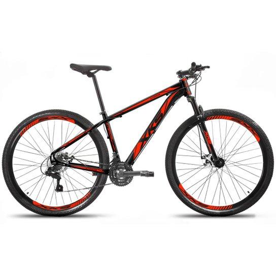 Bicicleta Aro 29 Xks Alumínio Freio A Disco 21v - Preto+Vermelho