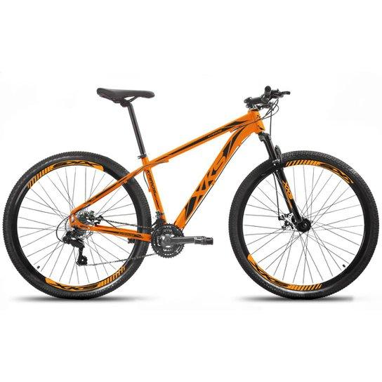 Bicicleta Aro 29 Xks Alumínio Freio A Disco 21v - Preto+Laranja
