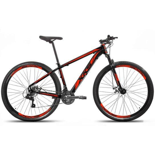 Bicicleta Aro 29 XKS Freio a Disco Hidráulico 21 Marchas - Preto+Vermelho