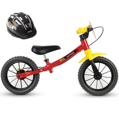 Bicicleta Balance Bike De Equilíbrio Sem Pedal + Capacete - Unissex