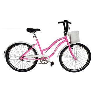 Bicicleta Beach Aro 26 Feminina Retro Vintage Chiclete