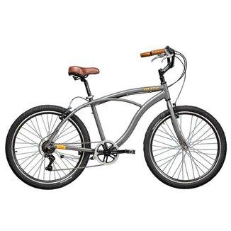 Bicicleta Blitz TERRAL Cinza 7 velocidades urbana