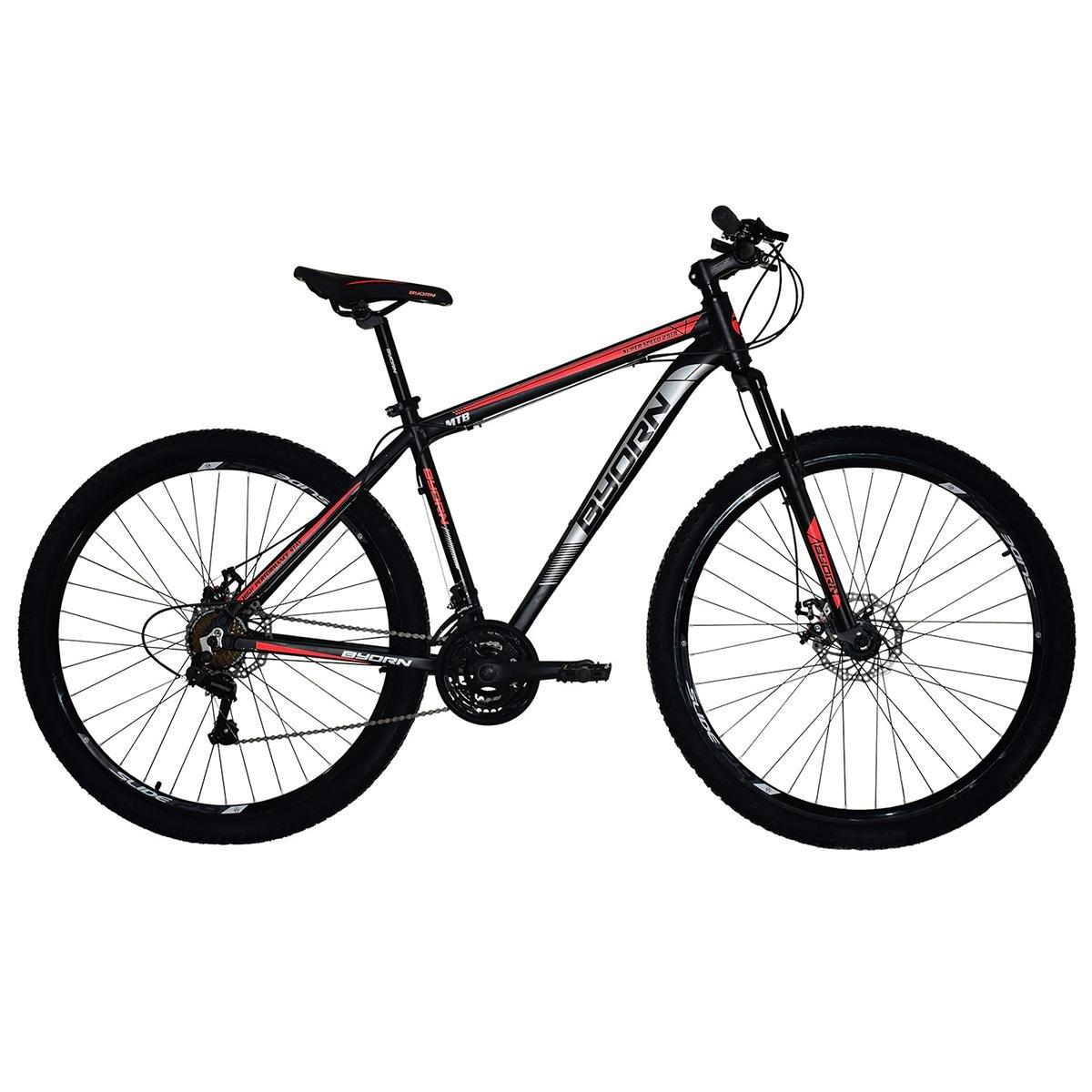 Bicicleta Byorn Super Speed T17 Aro 29 Susp. Dianteira 21 Marchas - Preto/vermelho