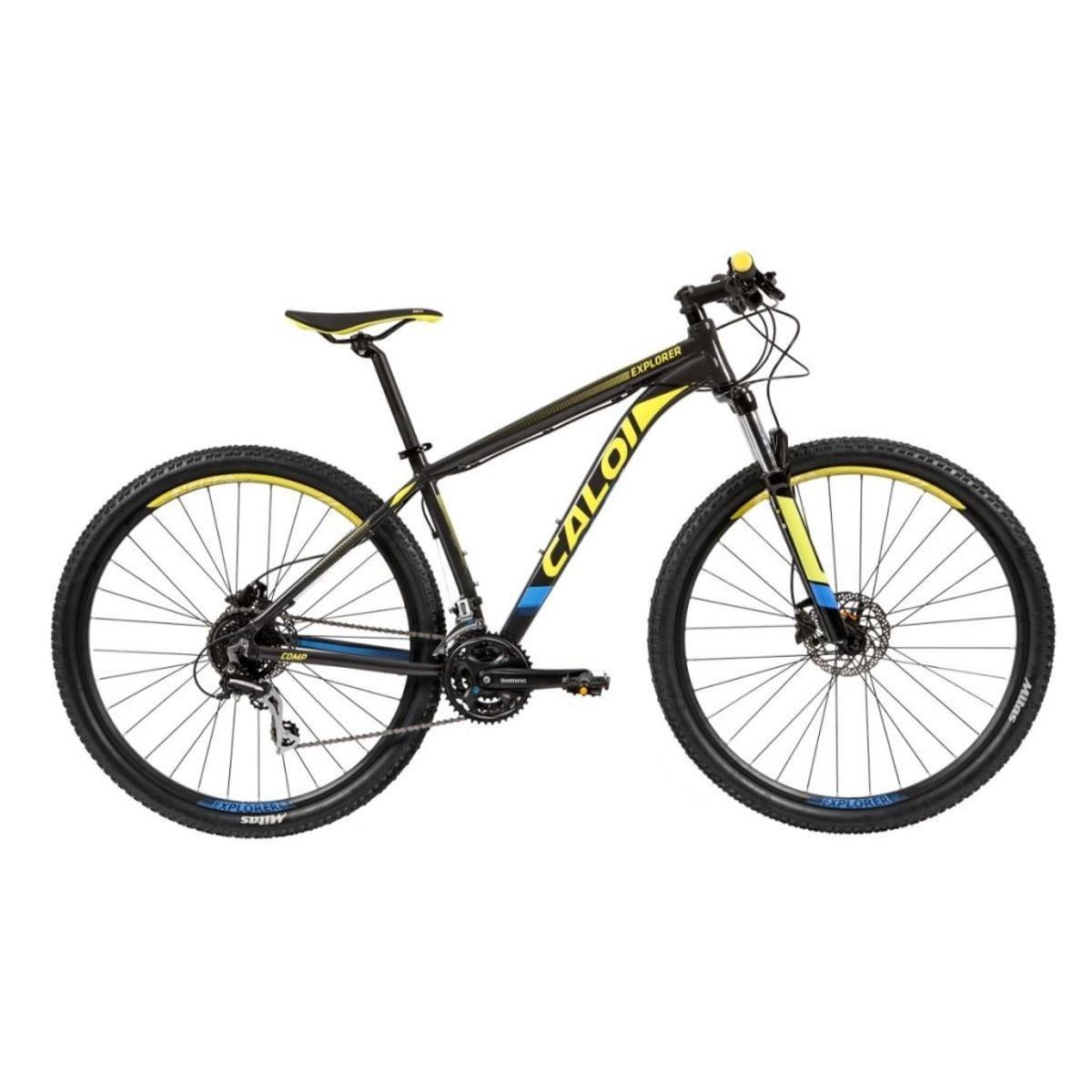 78992d6bf Bicicleta Caloi Explorer Comp 2019 - Preto e Amarelo