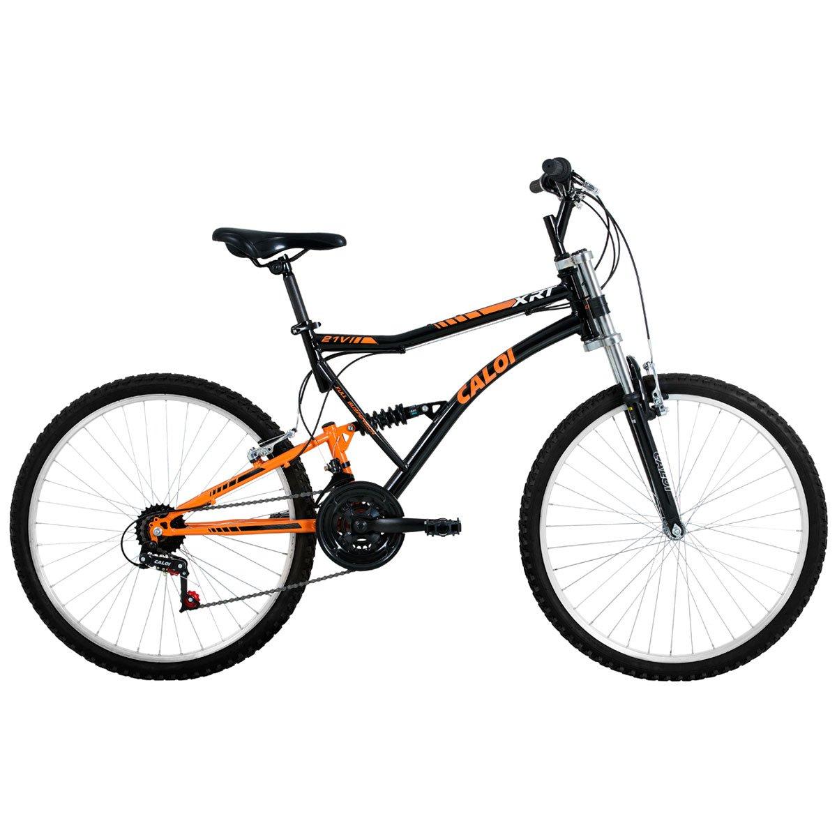 0b7c46f23 Bicicleta Caloi XRT - Aro 26 - 21 Marchas - Full Suspension