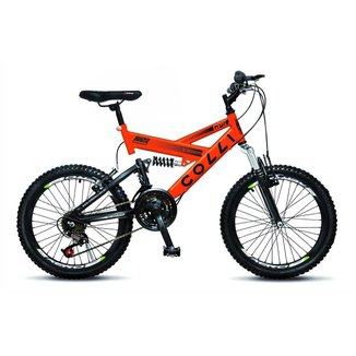 Bicicleta Colli Aro 20 Dupla Suspensão 36 Raias Freios V-Brake