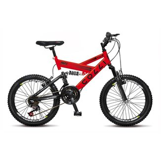 Bicicleta Colli Fulls GPS Aro 20 Dupla Suspensão 21 Marchas