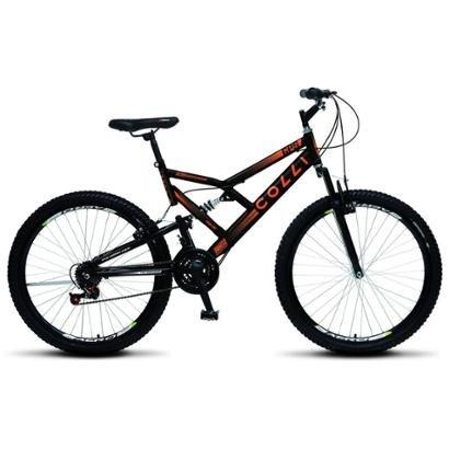 Bicicleta Colli Fulls GPS Aro 26 Dupla Susp. 36 Raios 21 Marchas - Unissex