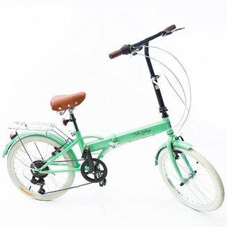 Bicicleta Dobrável Fenix Green LIGHT - Kit Marcha Shimano - 6 Velocidades