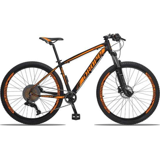 Bicicleta Dropp Aro 29 Z3 Kit Absolute 11V Freio a Disco Hidráulico - Preto+Laranja