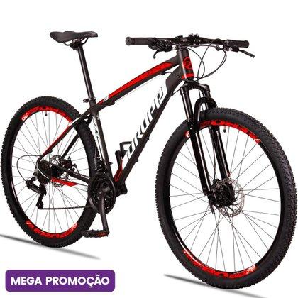 Bicicleta Dropp Z3 Aro 29 Câmbios Shimano 21 Marchas Freio a Disco Mecânico com Suspensão
