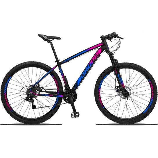 Bicicleta Dropp Z3 Aro 29 Câmbios Shimano Freio a Disco e Suspensão - Azul+Rosa