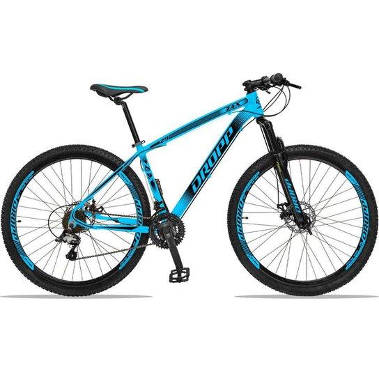 Bicicleta Dropp Z4x 27 Marchas Aro 29 Câmbios GTA Freio A Disco Hidráulico - Azul+Preto