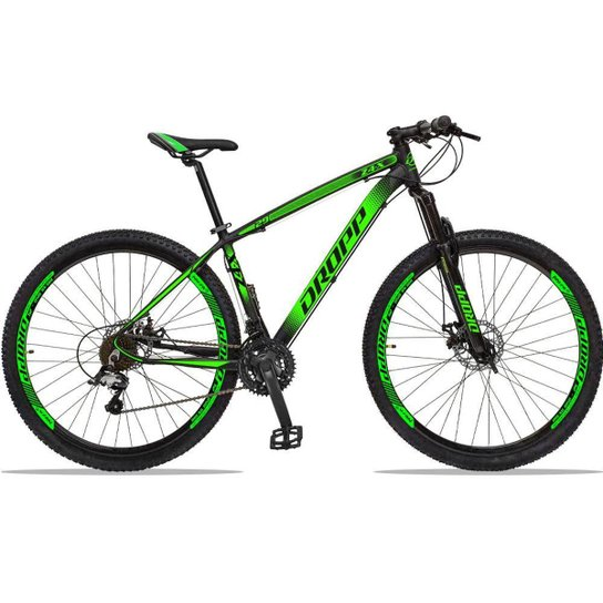 Bicicleta Dropp Z4x 27 Marchas Aro 29 Câmbios GTA Freio A Disco Hidráulico - Preto+verde