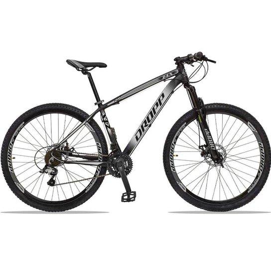 Bicicleta Dropp Z4x 27 Marchas Aro 29 Câmbios GTA Freio A Disco Hidráulico - Preto+Cinza