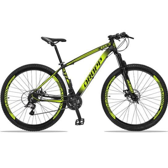 Bicicleta Dropp Z4x 27 Marchas Aro 29 Câmbios GTA Freio A Disco Hidráulico - Preto+Amarelo