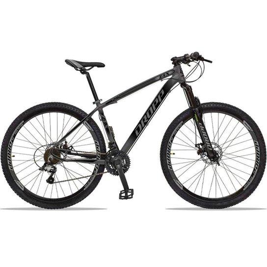 Bicicleta Dropp Z4x 27 Marchas Aro 29 Câmbios GTA Freio A Disco Hidráulico - Grafite+Preto