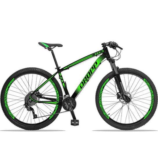 Bicicleta Dropp Z4X 27v Câmbios ACERA/DEORE Freio Hidráulico Suspensão com Trava no Ombro Aro 29 - Preto+verde