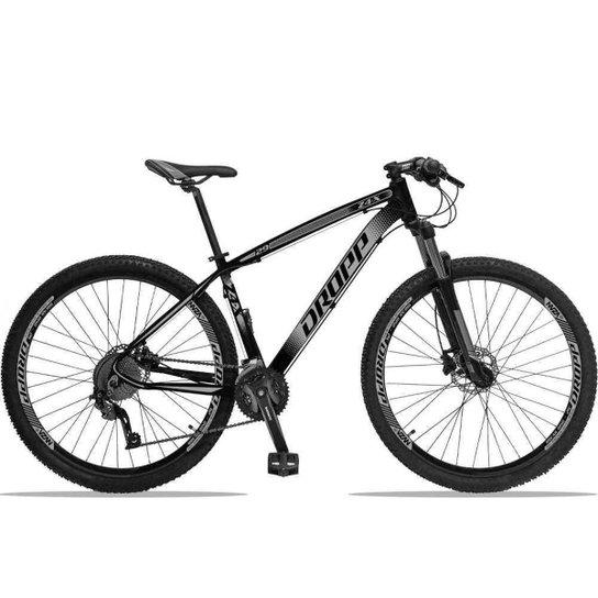 Bicicleta Dropp Z4X 27v Câmbios ACERA/DEORE Freio Hidráulico Suspensão com Trava no Ombro Aro 29 - Preto+Cinza