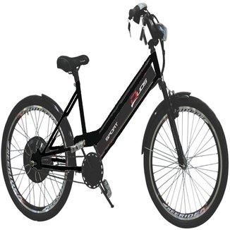 Bicicleta Elétrica 800W 48V 15Ah Sport Preta
