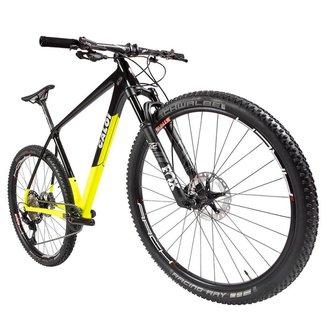 Bicicleta Elite Carbon Racing XT 2021 Aro 29 Quadro 17 Carbono Preto/Amarelo - Caloi