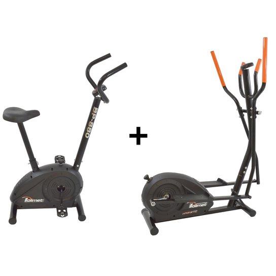 Bicicleta Ergométrica Bp-880 E Eliptico Magnético Polimet - Preto