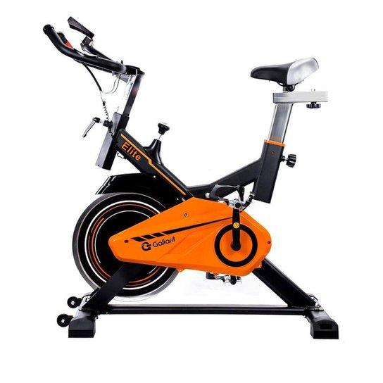 Bicicleta Ergométrica Gallant Elite Spinning 110kg Mecânica - Amarelo