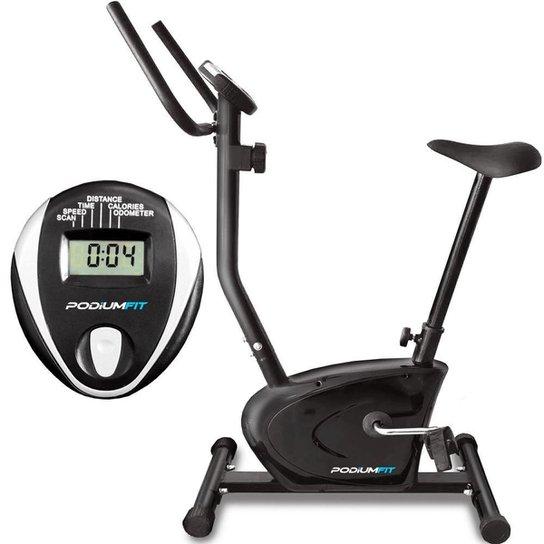 Bicicleta Ergométrica PodiumFit V90 - Magnética - 8 cargas - Preto