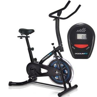 Bicicleta Ergométrica Spinning Podiumfit S100 Silenciosa Roda 8Kg