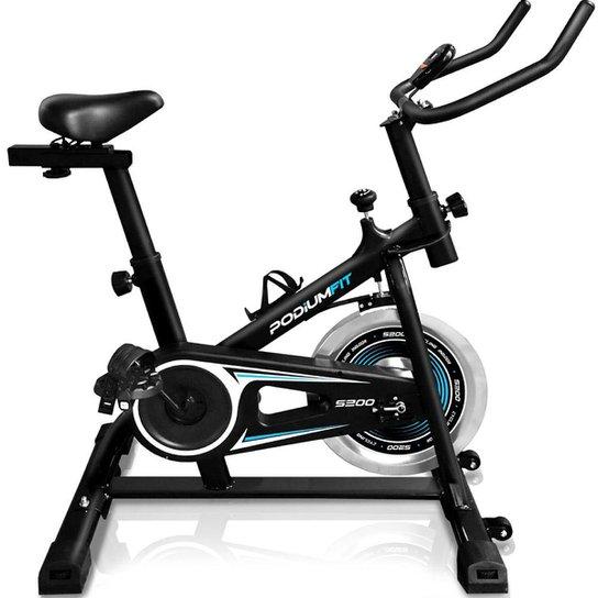 Bicicleta Ergométrica Spinning Podiumfit S200 Silenciosa - Preto