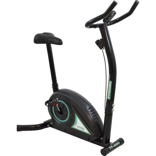 Bicicleta Ergométrica Tração Magnética 5 Funções Trevalla TF-4300 Preta - Preto