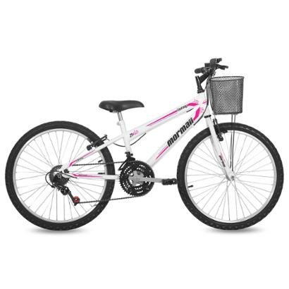 Bicicleta Feminina Aro 24 Mtb Q13 21V Fantasy Com Cesta Mormaii - Feminino