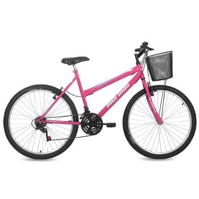 Bicicleta Feminina Aro 26 Mtb Q19,5 18V Safira Com Cesta Mormaii - Feminino