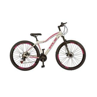 Bicicleta Feminina Aro 29 MTB Aluminio Freio a Disco Tamanho 17 KLS