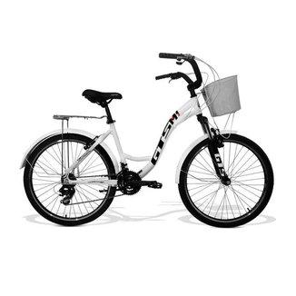 Bicicleta Feminina Gts M1 Walk Urbano Aro 26 Câmbio Shimano 21 Marchas E Freio V-Brake